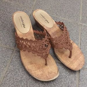 Comfort Plus Brown Sandals by Predictions